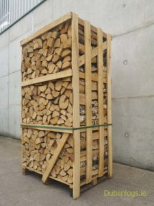 crate of kiln dried birch