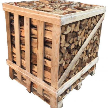 1.5 cubic meter crate of oak stacked