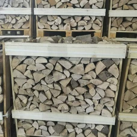 crate of kiln dry ash firewood