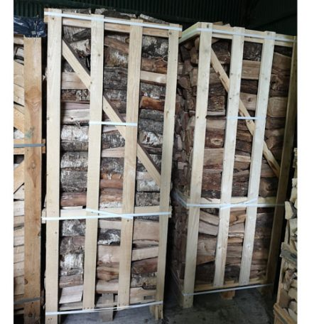 Four cubic meters of stacked dry kilned logs