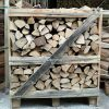 Crate of kiln dry hornbeam logs one point five cubic meters